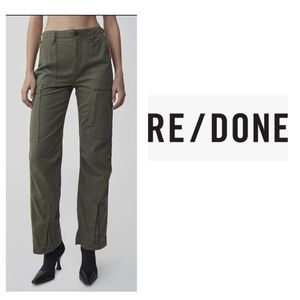 RE/DONE High rise Multiple Pocket Army Green Cargo